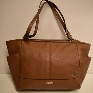 Coach Brown Pebbled Park Leather Carrie Tote 29898